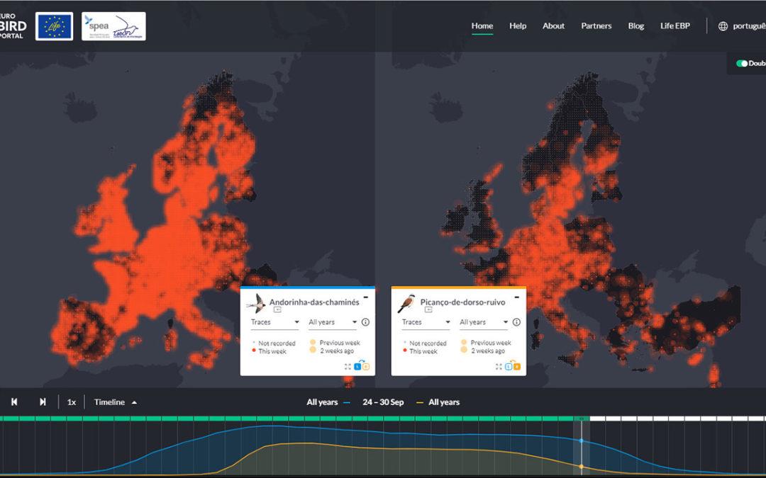 EuroBirdPortal disponibiliza uma nova versão do seu online viewer